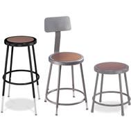 round hardboard stools