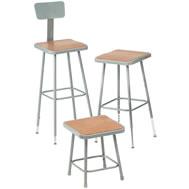 square hardboard stools