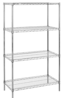 Chrome 54 inch Wire Shelving Starter Kits, 54 inch Wire Shelving ...