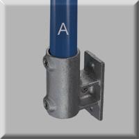 type 64 standard vertical railing base