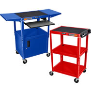 adjustable height a/v carts
