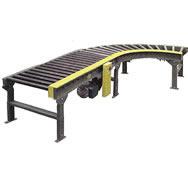 model 199-crrc chain driven live roller curve conveyor