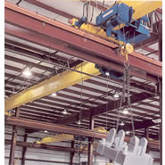 single girder cranes with hoist