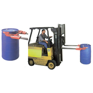 drum grab & dispenser for fork trucks