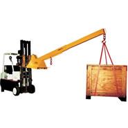 model pb fork lift booms pivoting