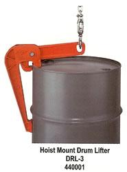 Drum Lifter Hoist Mounted Open Head