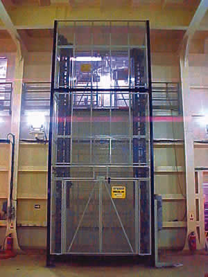 Power Stop Brakes >> Dual Mast Mezzanine Lift, Custom Industrial Material Lift ...