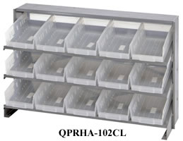 clear-view bench pick racks