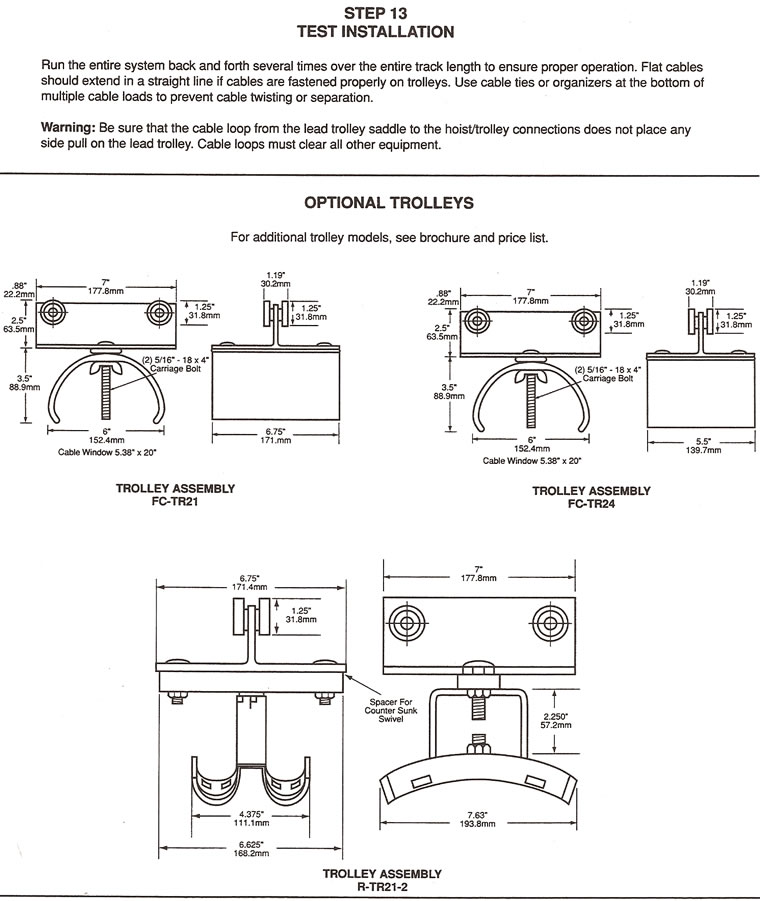 12 gauge c-track system installation instructions