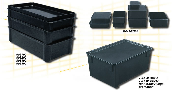 Esd Bins Esd Boxes Fiberglass Boxes Stacking Containers