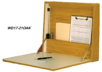 Oak Fold Up Desks. Folding Wall Desks