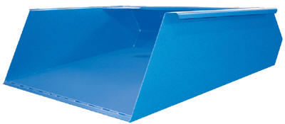 "The Fork Mounted Front Loader is engineered for use with your existing fork truck and it's ""dust pan"" design is ideal for transporting snow, gravel, sand or refuse."