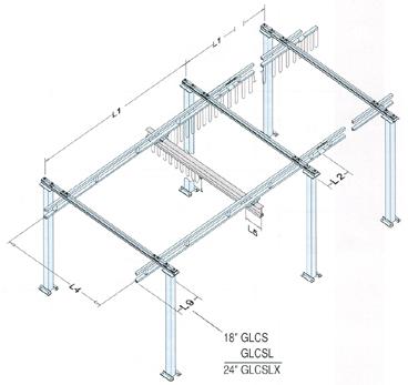 free standing bridge crane dimensions