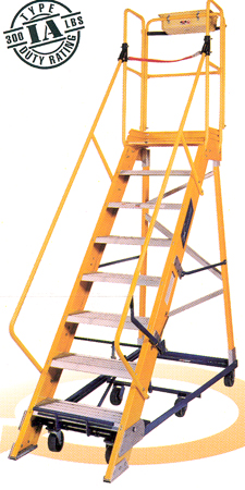 Mobile Stairs Rolling Ladders Nonconductive Mobile