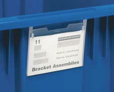 stack and nest totes clear label holder