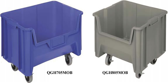 Heavy Duty Giant Stack Container with Label Holder Color Set of 3 Blue