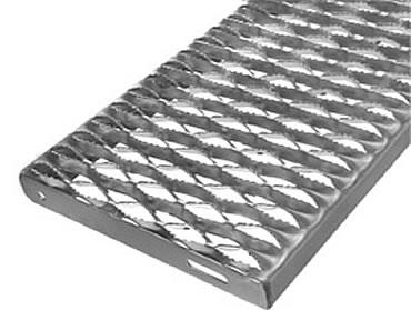 Grip Span Stair Treads Channel Grating Treads Osha Type Galvanized
