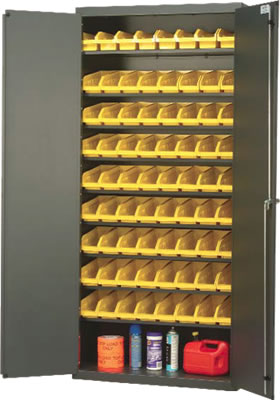 sloped shelf pick rack flow cabinet