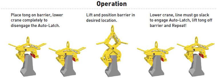 Heavy Duty Barrier Grab Lifting Beam Grab Beam Lifting