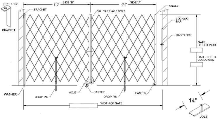 Collapsible Gates, Door Gates, Folding Gates, Steel Folding Gates