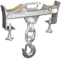 hoisting hook double fork