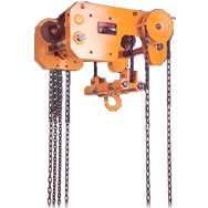 shb ultra low headroom trolley hoist