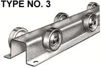 type 3 conveyor rail wheels