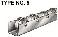type 5 conveyor rail wheels