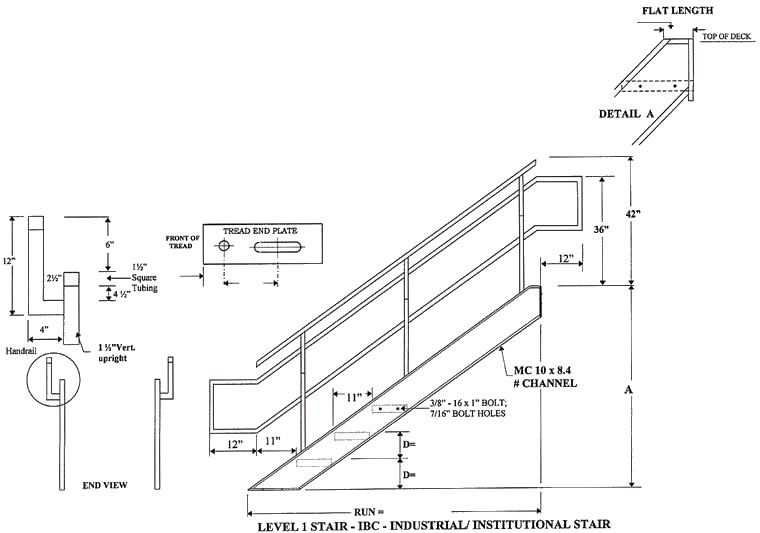 Industrial Institutional Ibc Stairs Ibc Prefab Steel