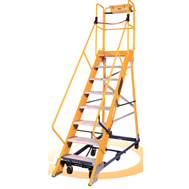 mobile maintenance platform rolling ladders