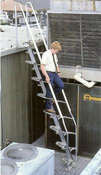 Lapeyre Stairs Alternating Tread Steel Stairs