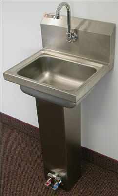 Hand Sinks Stainless Steel Sink Utility Sinks Knee Valve