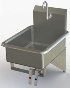 Hand Sinks Stainless Steel Sink Utility Sinks Knee Valve