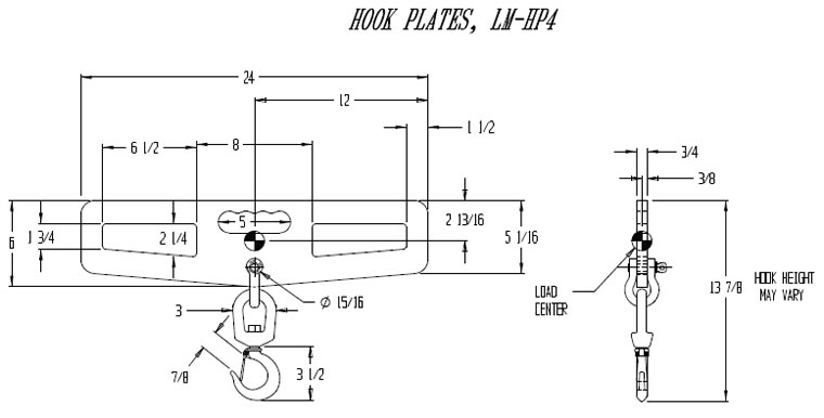 hook plates drawing
