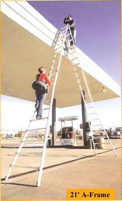 21' a-frame ladder