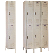 double and triple tier lockers