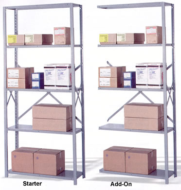 add-on and starter five shelf storage