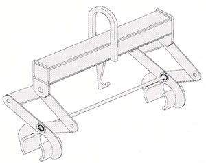 gripping lifting tongs for longer loads