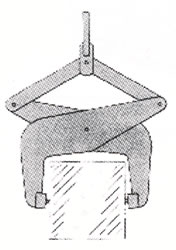 pressure lifting tongs for boxes bales ingots