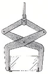 supporting lifting tongs for boxes contianers crates