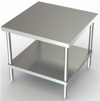 stainless steel mixer stands work table with storage two shelves used sink