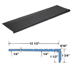 outdoor recycled rubber stair treads - Stair Tread
