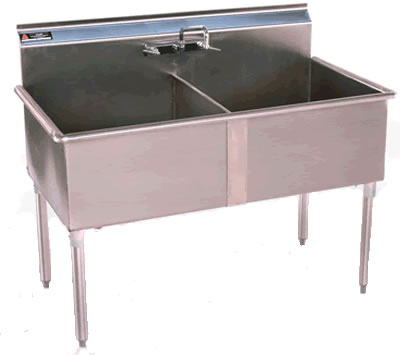 Two Compartment Sinks NSF Sinks Stainless Steel Sink Utility Sinks