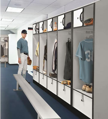 Open Access Designer Lockers Plastic Laminate Locker