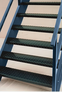 Diamond Plate Steel Stair Treads Galvanized Stair Treads