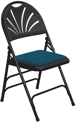 Astounding Padded Folding Chairs Steel Folding Chairs Fan Back Download Free Architecture Designs Itiscsunscenecom