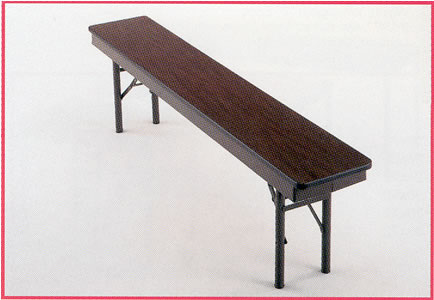 plastic laminated benches