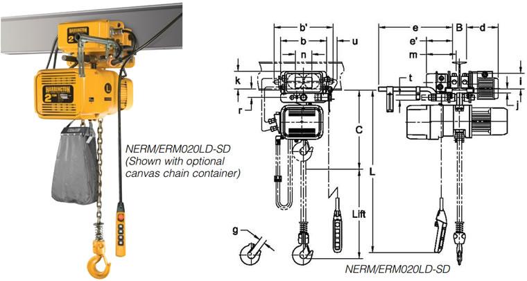 Plug and Play Crane Kit Package, Harrington NERM Dual Sd Hoist ...  Sd Crane Pendant Wiring Diagram on crane pendant cable, crane pendant parts, overhead crane parts diagram, crane pendant controls, budgit hoist parts diagram,