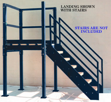 Merveilleux Heavy Duty Structural Steel Platforms With Handrail On 3 Sides