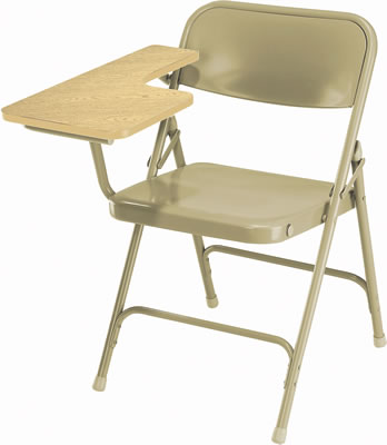 Folding Chair With Writing Table